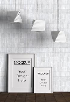 Design d'intérieur avec lampes et cadres