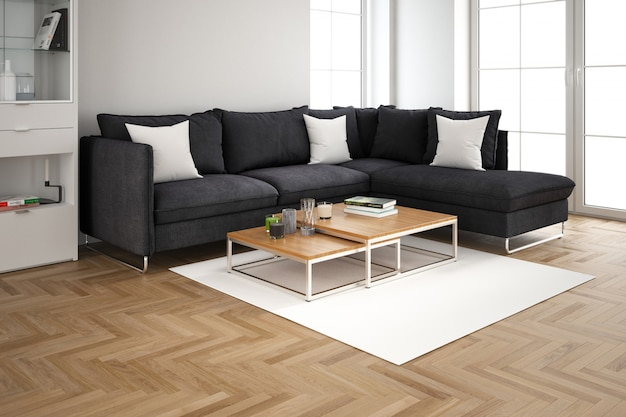 Design intérieur moderne du salon