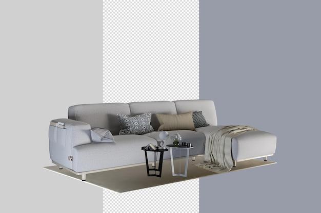Design d'intérieur de salon moderne en rendu 3d