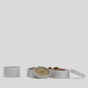 Dessert 3d rendu isolé