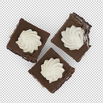 Dessert isométrique