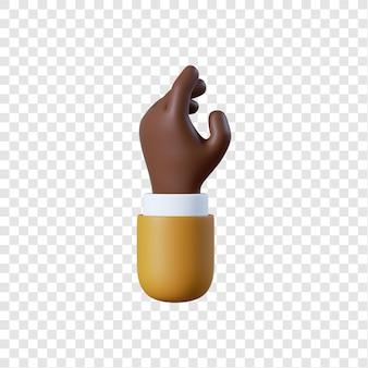 Dessin animé homme d'affaires afro-américain main relax geste