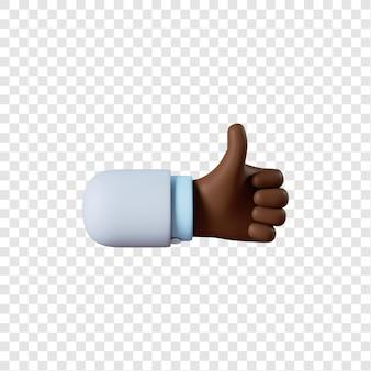 Dessin animé main médecin afro-américain comme geste