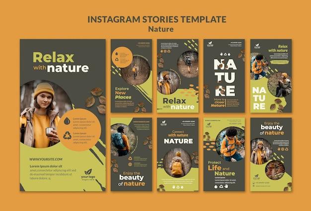 Détendez-vous avec les histoires instagram de la nature