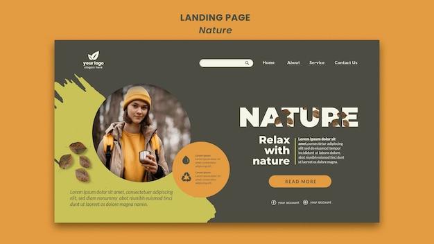 Détendez-vous avec la page de destination de la nature