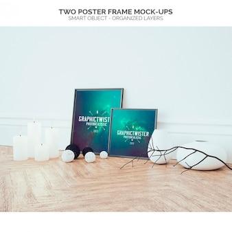 Deux cadres d'affiche des maquettes