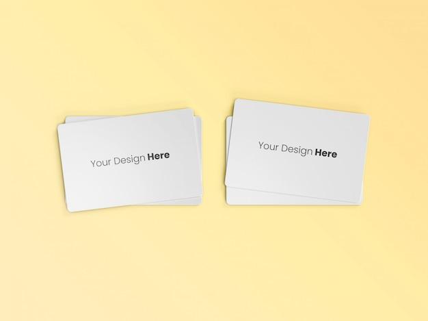 Deux cartes de visite empilées minimal