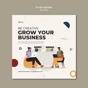 Développez le modèle de flyer carré d'entreprise