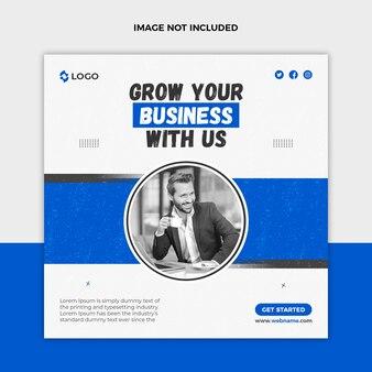 Développez votre modèle de publication promotionnelle sur les réseaux sociaux et de bannière web pour votre entreprise