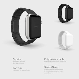 Différents smartwatches fixés