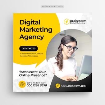 Digital business marketing bannière de médias sociaux ou dépliant publicitaire