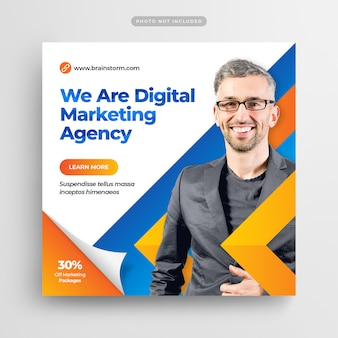 Digital business marketing social media post banner ou square flyer