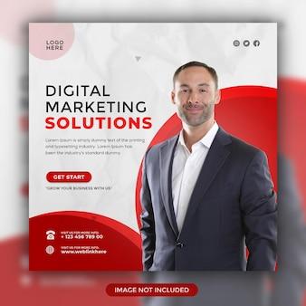 Digital marketing solutions modèle de publication sur les réseaux sociaux instagram design
