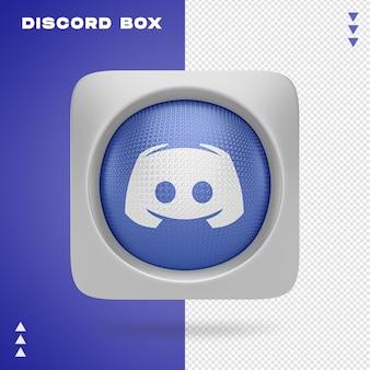 Discord box en 3d renderin isolé