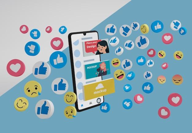 Dispositif de maquette avec plate-forme de médias sociaux