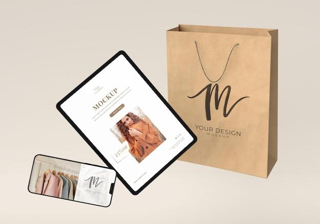 Dispositifs et disposition des sacs en papier