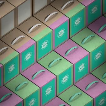 Disposition des boîtes de conception isométrique grand angle
