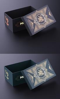 Disposition de conception de boîte vintage