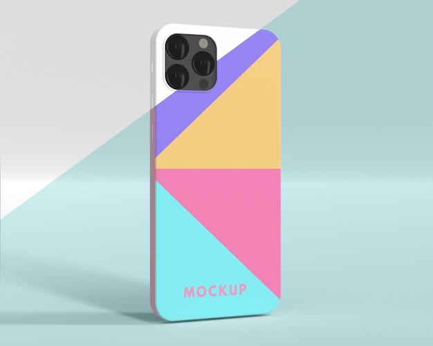 Disposition créative de la maquette de la coque du téléphone