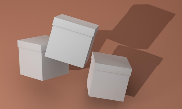 Disposition de maquette de boîte d'emballage