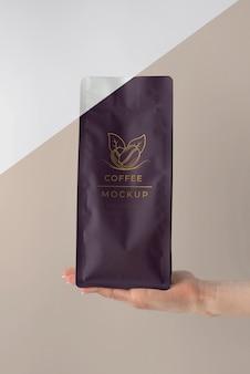 Disposition d'une maquette d'élément de café