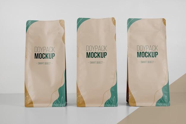 Disposition minimaliste de la maquette doypack