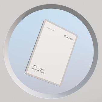 Disposition de tablette maquette moderne