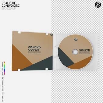 Disque cd et conception de maquette de couvercle de boîte cd isolée