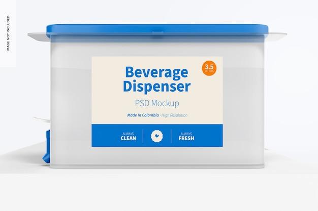 Distributeur de boissons avec maquette de robinet, vue de face