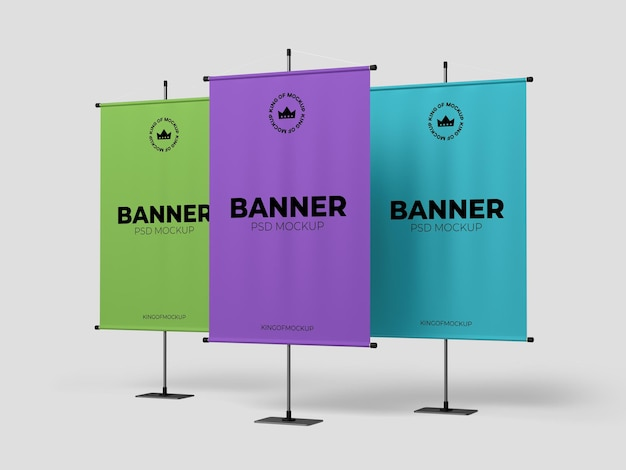 Divers conception de maquette de bannière de stand isolé