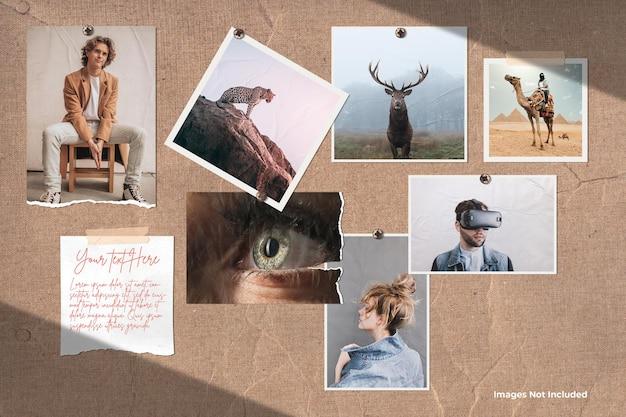 Diverses maquettes de tableau d'humeur de jeu de photos