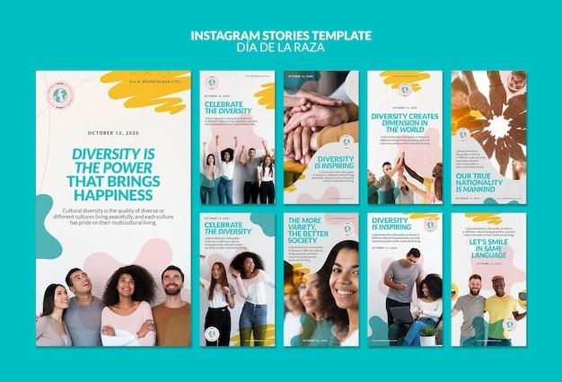 La diversité, c'est le pouvoir des histoires instagram