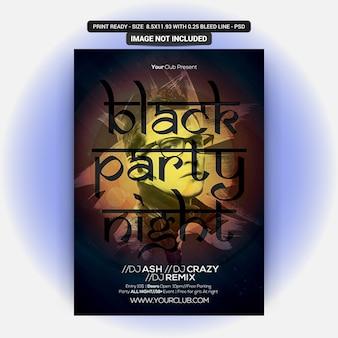 Dj black party night