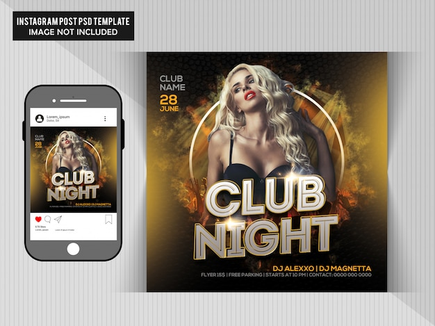 Dj party flyer pour instagram