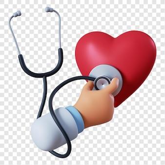 Docteur main avec stéthoscope
