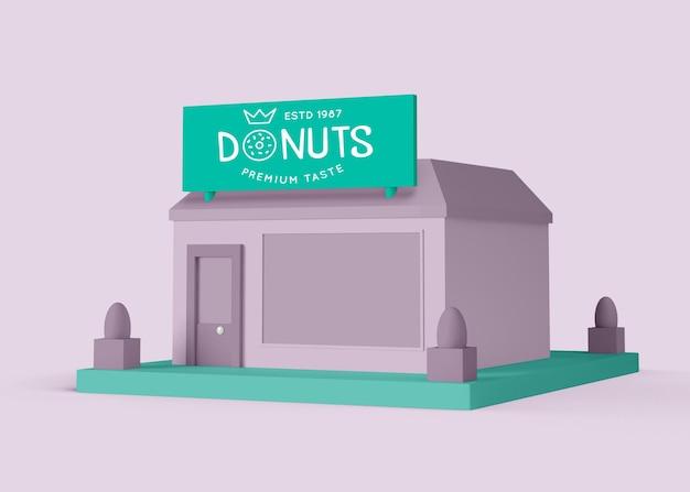 Donuts store annonce extérieure