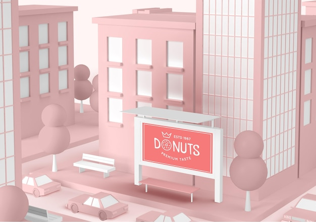 Donuts store commercial extérieur