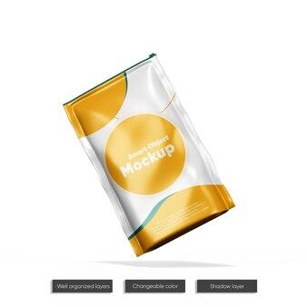 Doy-pack avec maquette de fermeture à glissière