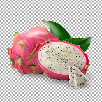 Dragonfruit ou pitaya isolé
