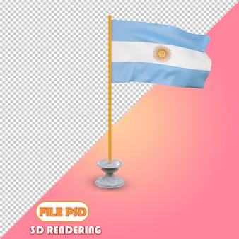 Drapeau 3d de l'argentine