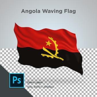 Drapeau de l'angola wave psd transparent