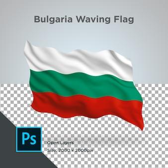 Drapeau de la bulgarie vague transparente psd