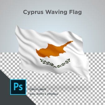 Drapeau de chypre wave psd transparent