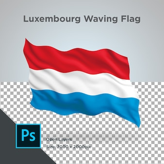Drapeau du luxembourg wave design transparent