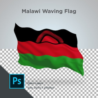 Drapeau du malawi wave design transparent