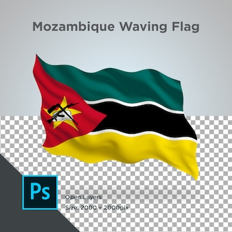 Drapeau du mozambique wave design transparent