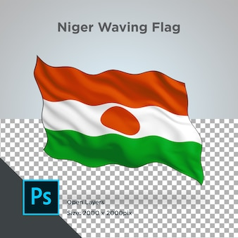 Drapeau du niger wave design transparent