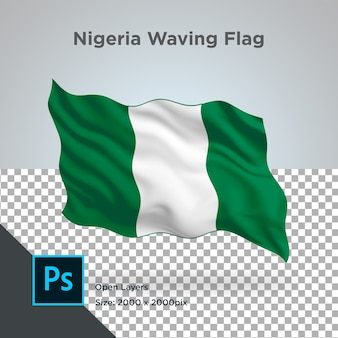 Drapeau du nigeria wave design transparent