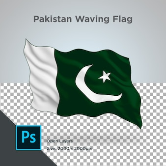 Drapeau du pakistan wave design transparent