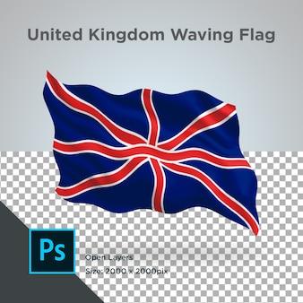 Drapeau du royaume-uni wave design transparent
